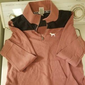 1/4 zip Pink Victorias Secret sweatshirt